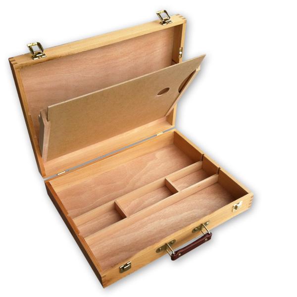 OFFERTA Cassetta in legno portacolori vuota, cassetta porta colori vuota, cassetta pittura ...