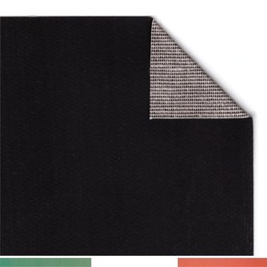 Tela spalmata Nera, Cotone 340gr, Grana Medio/fine