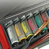 Confezioni colori acrilici, cassette