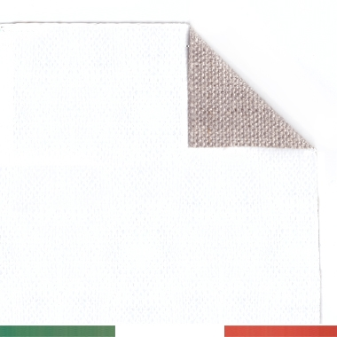 Tela per dipingere in rotoli e tela a metraggio, Tela Pronta, Puro Lino 400gr, Grana Medio/fine
