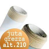 Tela per dipingere in rotoli e tela a metraggio, Tela Juta Grezza rotoli H 210 cm