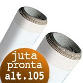 Tela per dipingere in rotoli e tela a metraggio, Tela Juta Pronta rotoli H 105 cm