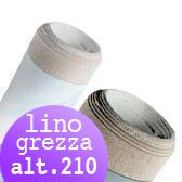 Tela per dipingere in rotoli e tela a metraggio, Tela Grezza Lino rotoli H 210 cm