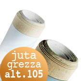 Tela per dipingere in rotoli e tela a metraggio, Tela Juta Grezza rotoli H 105 cm