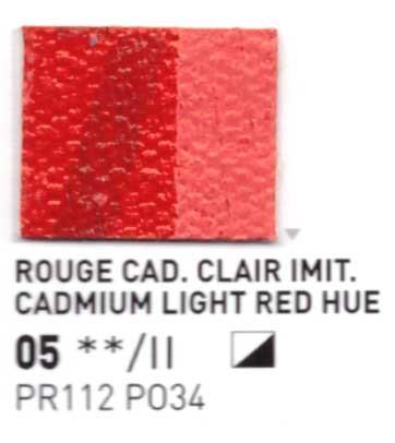 005 Rosso cadmio chiaro imit. - Colore a olio Pebeo Studio XL 200ml Grande