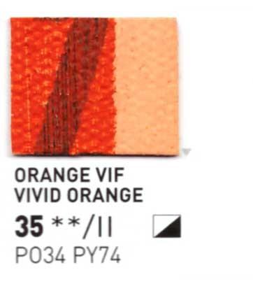 035 Arancio vivid - Colore a olio Pebeo Studio XL 200ml Grande