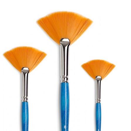 pennelli ventaglio sintetico ambra tintoretto