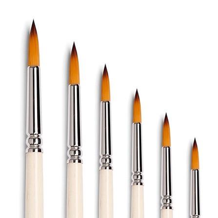 pennelli tintoretto sintetico per colori ad olio colori acrilici ed acquarello