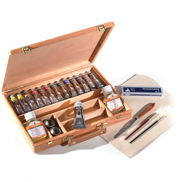 Offerta cassetta in legno colori a olio maimeri classico for Colori ad olio professionali