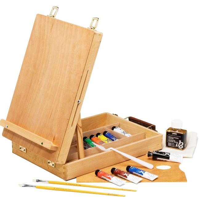Cassetta cavalletto colori a olio Pebeo, cassetta cavalletto prezzi colori a olio studio cassett cavalletto