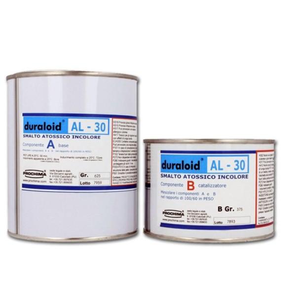 Smalto bicomponente Atossico Duraloid AL-30 Prochima E30 resina