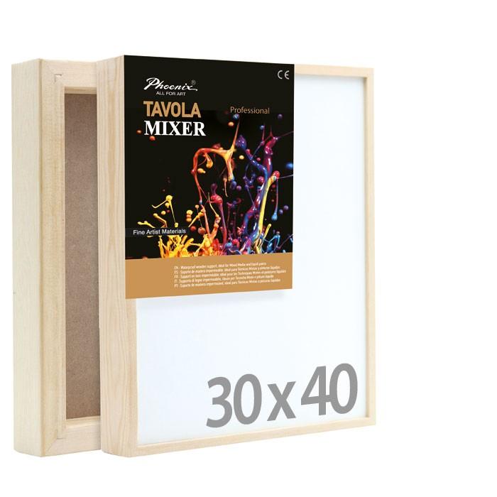 30x40 Tavola MIXER, per tecnica mista - Phoenix - per pouring e resina