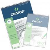 Blocco Canson 1557 schizzo, spiralato, 50 fogli, 120gr/mq, form. A3