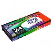 Confezione da 24 tubi 22ml di colori acrilici Graduate