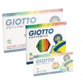 Confezioni matite Confezione Giotto Supermina ed accessori, pastelli Gotto supermina