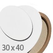 tele per dipingere ovali, 30x40cm prezzi tele per pittura ovali