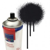5519 Nero - Colore spray acrilico DocTrade bombetta 400ml colore acrilico spray brillante e coprente