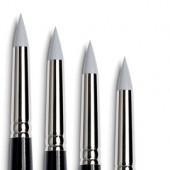 pennelli in silicone pennelli gomma tintoretto punta tonda