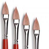 Tintoretto serie 980 pennello per olio - Pelo di bue, lingua di gatto, pennelli Tintoretto pelo di bue
