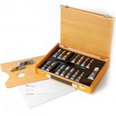 Confezione colori acrilici Maimeri Polycolor in cassetta di legno