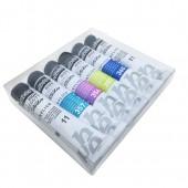 Confezione da 4 tubi acrilico Metallico più 2 bianchi Pebeo Studio 20ml