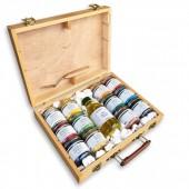 valigetta pigmenti per pittura per creare colori ad olio, prezzi pigmenti in polvere olio