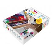 cassetta completa, confezione colori acrilici per bambini e ragazzi colori acrilici