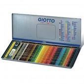 Confezione in metallo 50 matite Confezione in metallo 50 matite Giotto Supermina ed accessori ed accessori