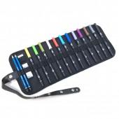 Confezione a rotolo con 12 Pennarelli Tombow Dual Brush e accessori