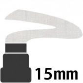 070 Argento - 15mm pennarello acrilico Pebeo Marker 4Artist