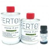 Resina tricomponente colorata Stone X Pro, colore BLU - form. 335gr (A+B+C)