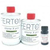 Resina tricomponente colorata Stone X Pro, colore ROSSO - form. 335gr (A+B+C)