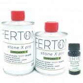 Resina tricomponente colorata Stone X Pro, colore VERDE - form. 335gr (A+B+C)