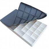 Tavolozza in plastica con divisori e coperchio ermetico in silicone