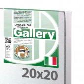Tele pronte, tele per dipingere, tele pieraccini 20x20 cm - Tela per pittura pronta - Pieraccini linea Gallery 20/561 - Made in Italy
