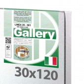 30x120 cm - Tela per pittura pronta - Pieraccini linea Gallery 20/569 - Made in Italy