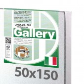 50x150 cm - Tela per dipingere pronta - Pieraccini linea Gallery 20/569 - Made in Italy