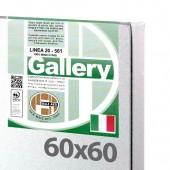 60x60 cm - Tela per pittura pronta - Pieraccini linea Gallery 20/561 - Made in Italy