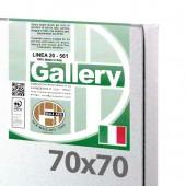 70x70 cm - Tela per dipingere pronta - Pieraccini linea Gallery 20/561 - Made in Italy