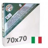 tele per dipingere 70x70 cm - Tela per pittura pronta a spessore ALTO - Pieraccini linea 37 MAXI