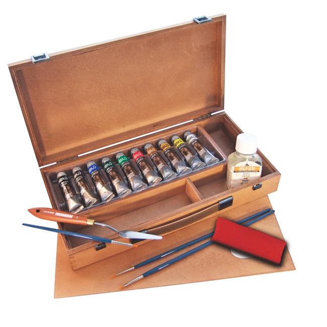 Colori a olio maimeri classico cassetta confezione colori a olio maimeri classico maimeri