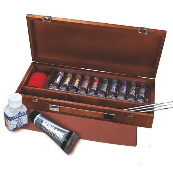 colori acrilici, prezzi colori acrilici, Maimeri acrilici, prezzi cassette colori acrilici prezzi assortimento colori acrilici maimeri