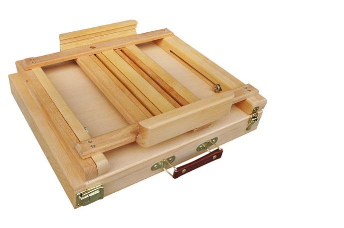 Offerta cassetta cavalletto portacolori cassetta cavalletto da tavolo per pittori cassetta - Tavolo con cassette di legno ...