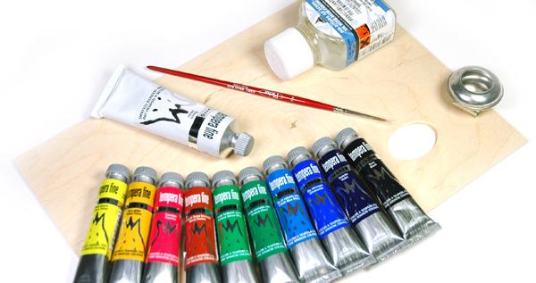 confezione colori a tempera Maimeri, comprare colori Maimeri tempera fine