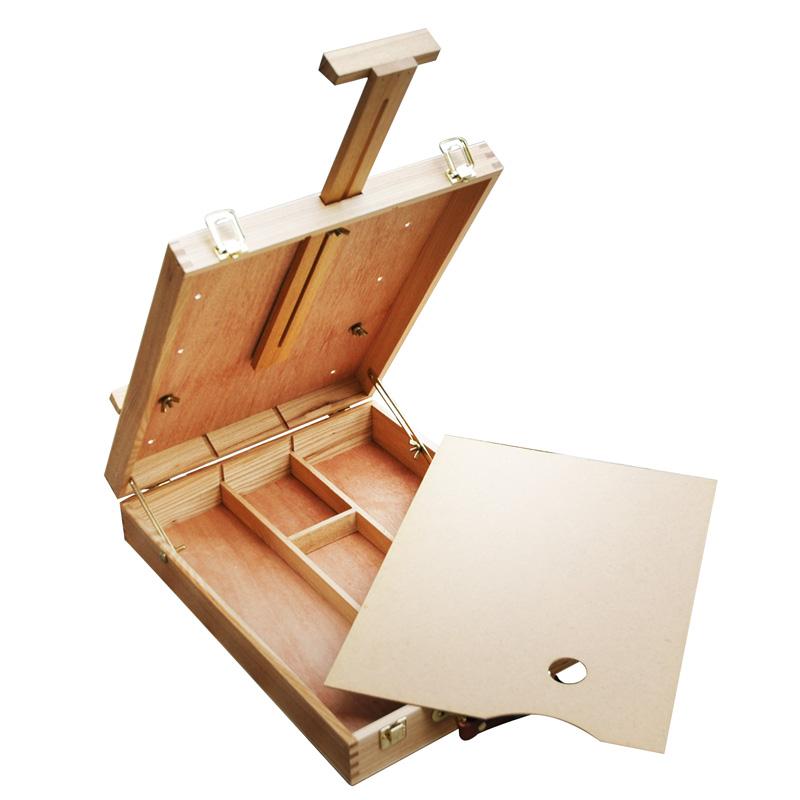 Cassetta cavalletto in legno da tavolo, cassetta vuota
