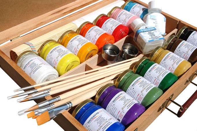 cassette colori acrilici prezzi online comprare colori acrilici