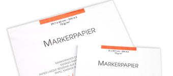 album per marker, blocchi per marker, carta per layout,