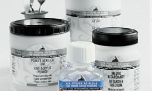 ausiliari e medium maimeri, prodotti ausiliari, ausiliari per pittura ad acqua, vernice fissativa, vernice finale, vernice brillante, fiele di bue, fissativo spray