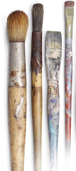colori acrilici pulire pennelli