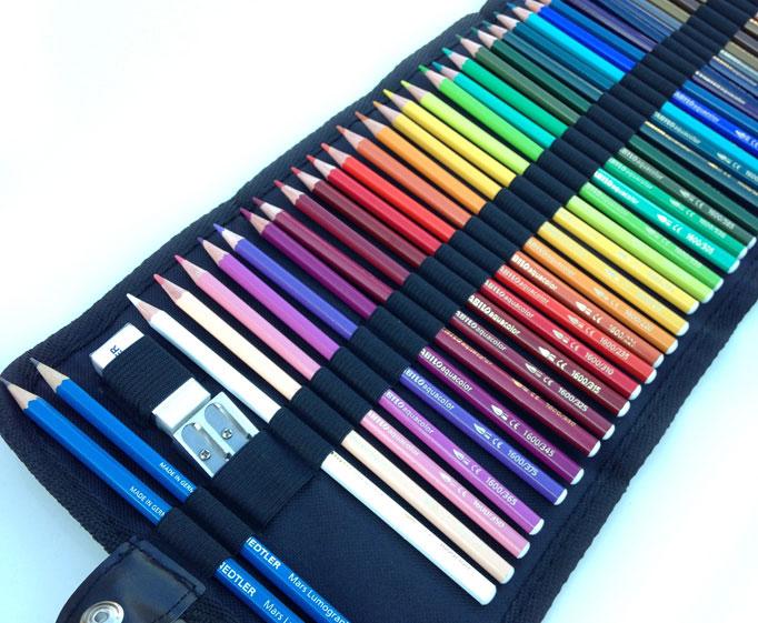 Astuccio matite arrotolato prezzi, comprare Astuccio matite acquarellabili
